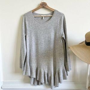 joie wool cashmere blend asymmetrical knit sweater